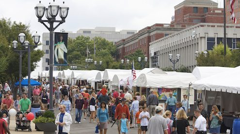 Saint Louis Art Fair in Clayton, Missouri on September 7, 2008.