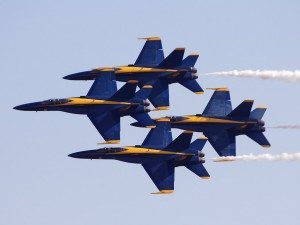 U.S. Navy Blue Angels Formation
